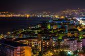 Turkish coast at night