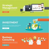 Постер, плакат: Flat design vector illustration concepts for business finance strategic management investment c