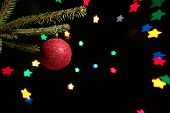 Christmas ball (background made with lensbaby and self made aperture)