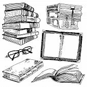 Set of books sketch