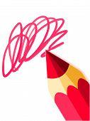 red pencil closeup