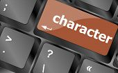 Character Word On Keyboard Key, Notebook Computer Button