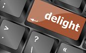 Delight Button On Computer Pc Keyboard Key