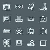 Home Electronics Appliances Web Icons
