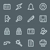 Scheduler web icons set