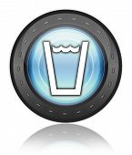 Icon, Button, Pictogram Drinking Water