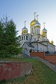 Cathedral Of Nativity Of Mary In Conception Convent In Moscow View With Tree