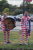 HARTFORD - OCTOBER 10: Unidentified fans before the International Friendly match between US Men`s National Team vs Ecuador,  on October 10, 2014, in Rentschler Field stadium, Hartford, USA.