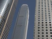 Skyscrapers in Hong Kong business district