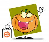 Cartoon character halloween happy pumkin bag