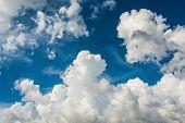 pic of stratus  - Cloudscape of bright blue sky - JPG