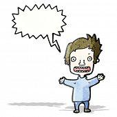 cartoon shouting boy