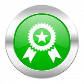 award green circle chrome web icon isolated