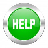 help green circle chrome web icon isolated