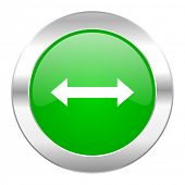 arrow green circle chrome web icon isolated