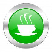 espresso green circle chrome web icon isolated