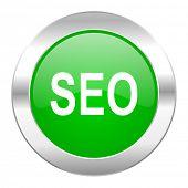seo green circle chrome web icon isolated