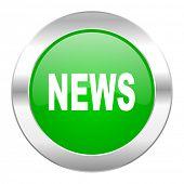 news green circle chrome web icon isolated
