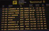 Panel de aeropuerto