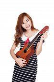 Asian Girl Tune Ukulele
