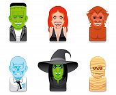 picture of wolfman  - Set of six avatar monster icons  - JPG