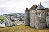View On The Castle And City Dieppe