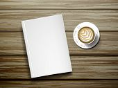 Blank Notebook With Cup Of Coffee