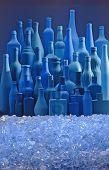 Bottles Skyline And Ice