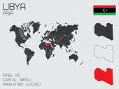 Set Of Infographic Elements For The Country Of Libya