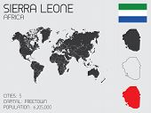 Set Of Infographic Elements For The Country Of Sierra Leone