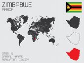 Set Of Infographic Elements For The Country Of Zimbabwe