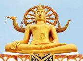 Gold Statue Of Big Buddha In Samui, Thailand