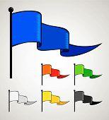 triangular color flag