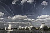 Thames Barrier and Tall Ship Festival