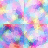 Colorful mosaic banner set
