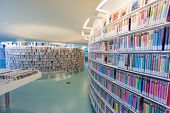 AMSTERDAM - AUGUST 26: Interior of the city's public library on August 26, 2014 in Amsterdam.