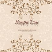Abstract background with flowers in vintage style