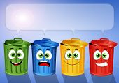 Colorful Garbage Bins For Recycle