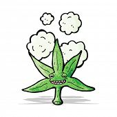 marijuana leaf cartoon character