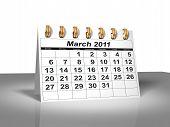 Desktop Calendar. March, 2011