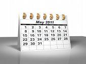 Desktop Calendar. May,2011