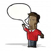 cartoon talking man