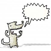 cartoon shouting wolf