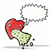 love sick heart cartoon