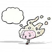 steaming brain cartoon
