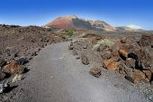 Educational trail at the Montana Ortiz in Lanzarote