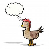 cartoon cockerel;