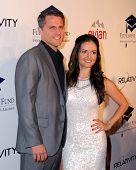 LOS ANGELES - OCT 14:  Scott Sveslosky, Danica McKellar at the Fulfillment Fund Stars Benefit Gala 2