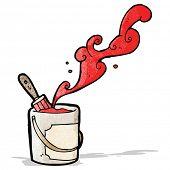 paint bucket cartoon