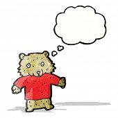 cartoon bear in tee